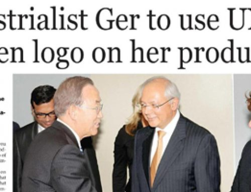 Industrialist Ger to use UN's women logo on her products